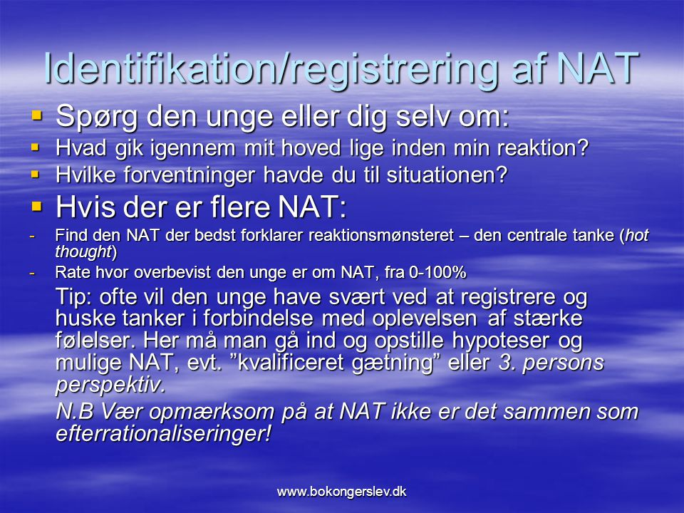 Identifikation/registrering af NAT