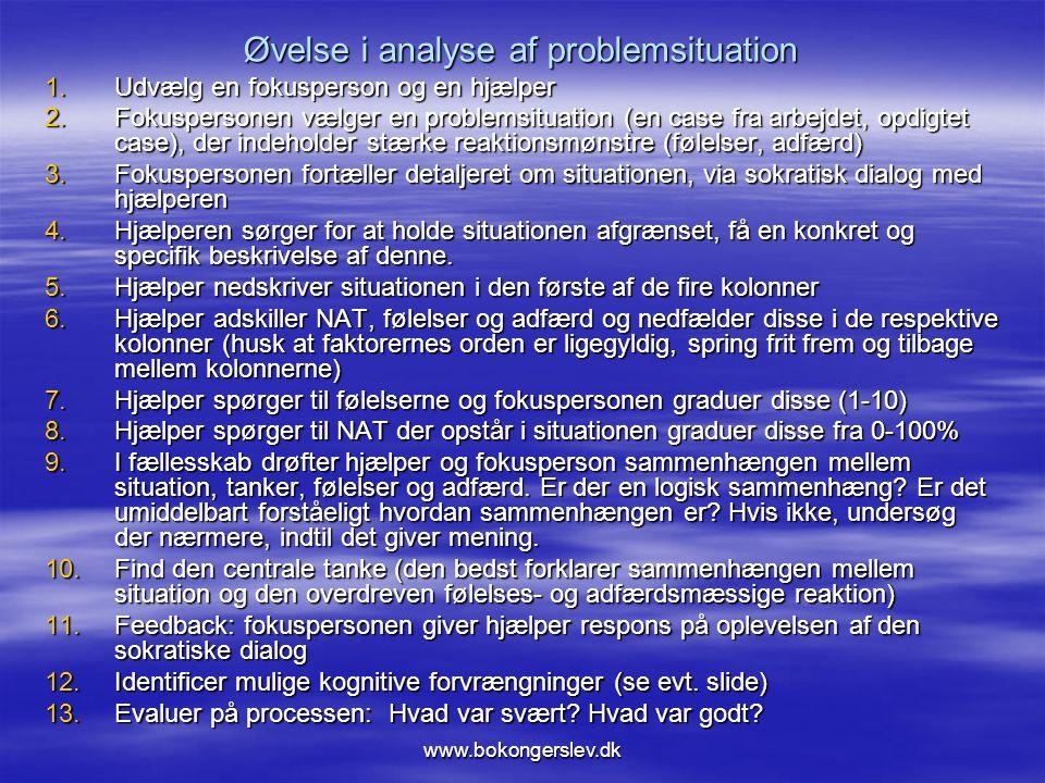 Øvelse i analyse af problemsituation