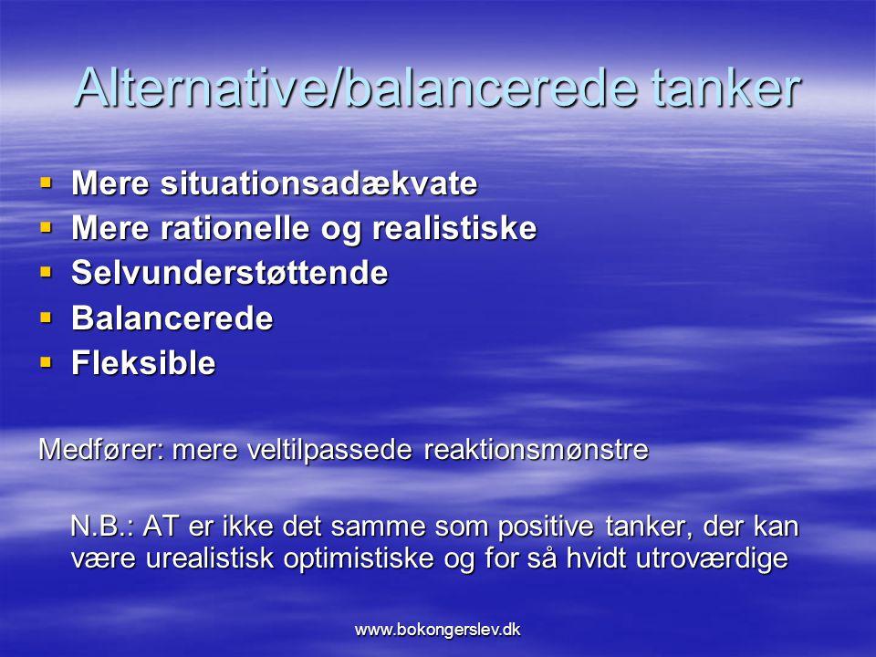 Alternative/balancerede tanker