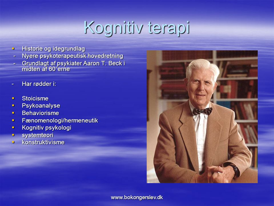 Kognitiv terapi Historie og idegrundlag