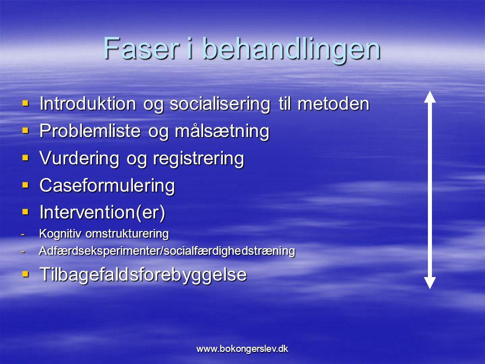 Faser i behandlingen Introduktion og socialisering til metoden