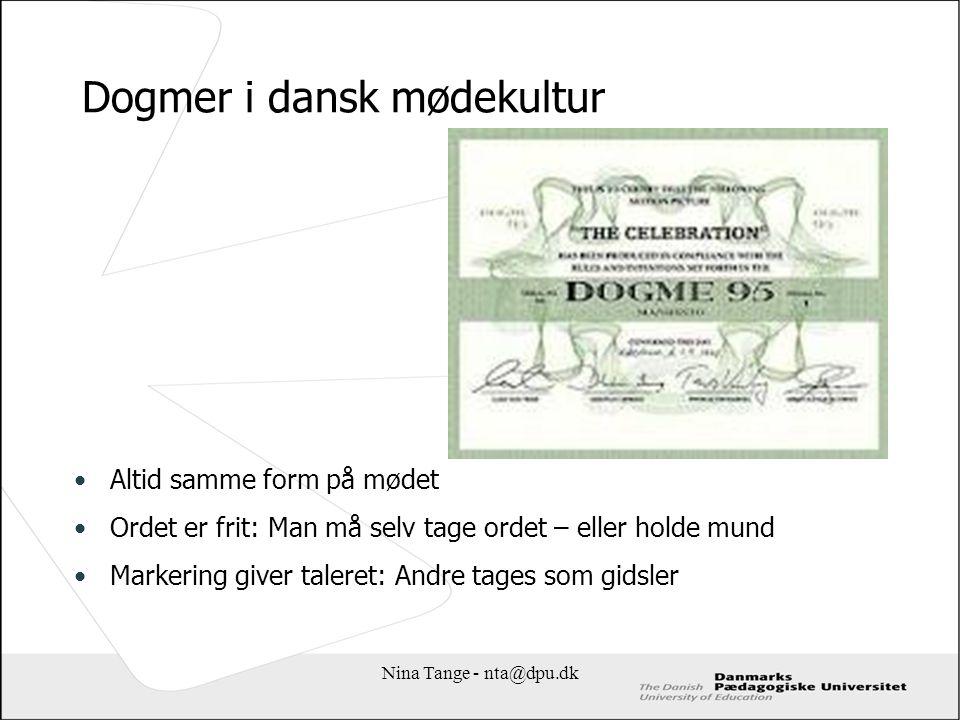 Dogmer i dansk mødekultur
