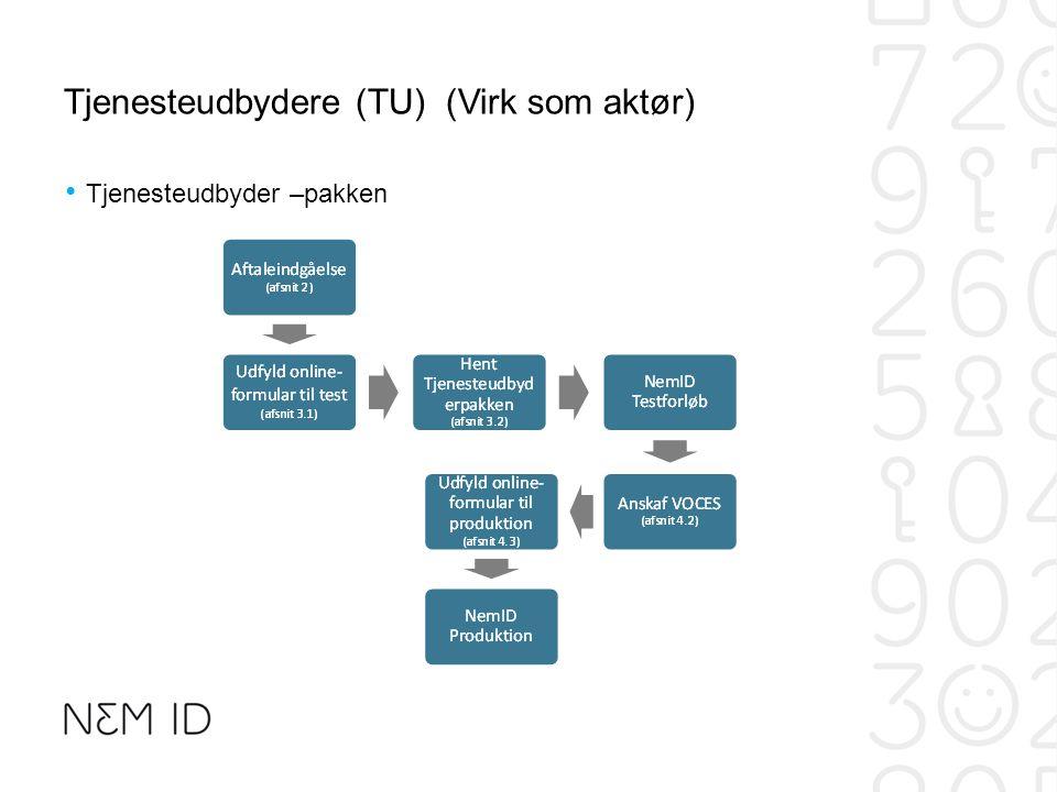 Tjenesteudbydere (TU) (Virk som aktør)