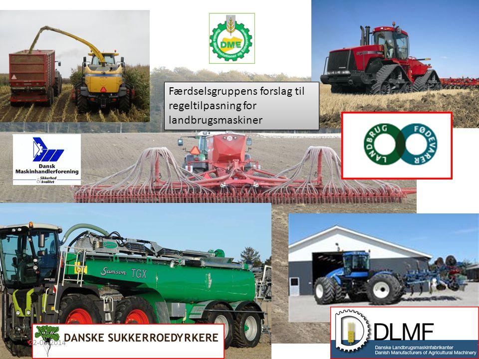 Færdselsgruppens forslag til regeltilpasning for landbrugsmaskiner