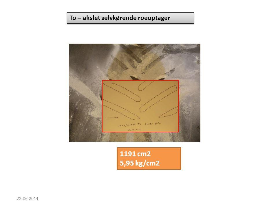 1191 cm2 5,95 kg/cm2 To – akslet selvkørende roeoptager