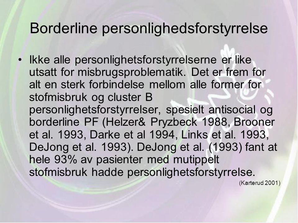 Borderline personlighedsforstyrrelse
