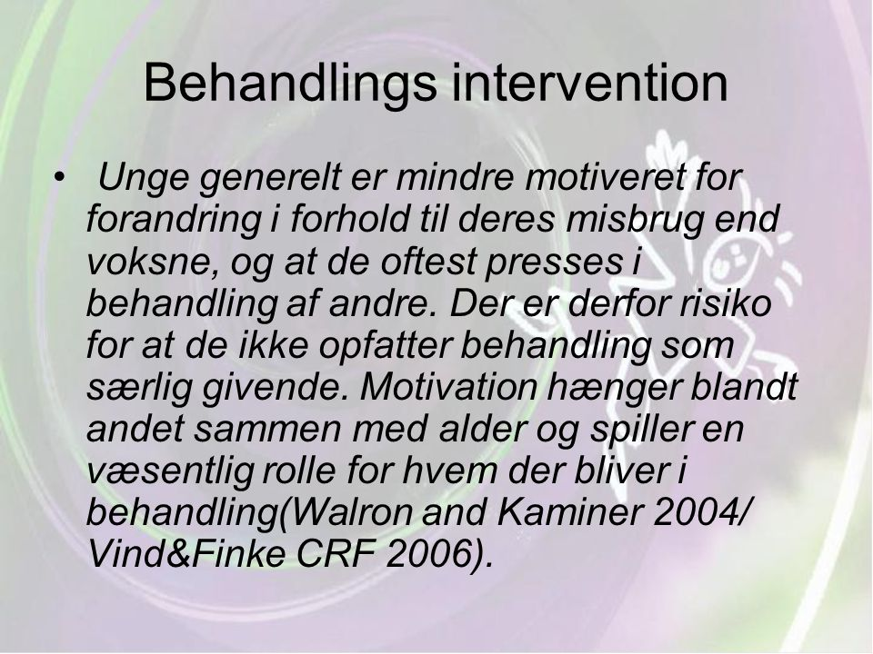 Behandlings intervention