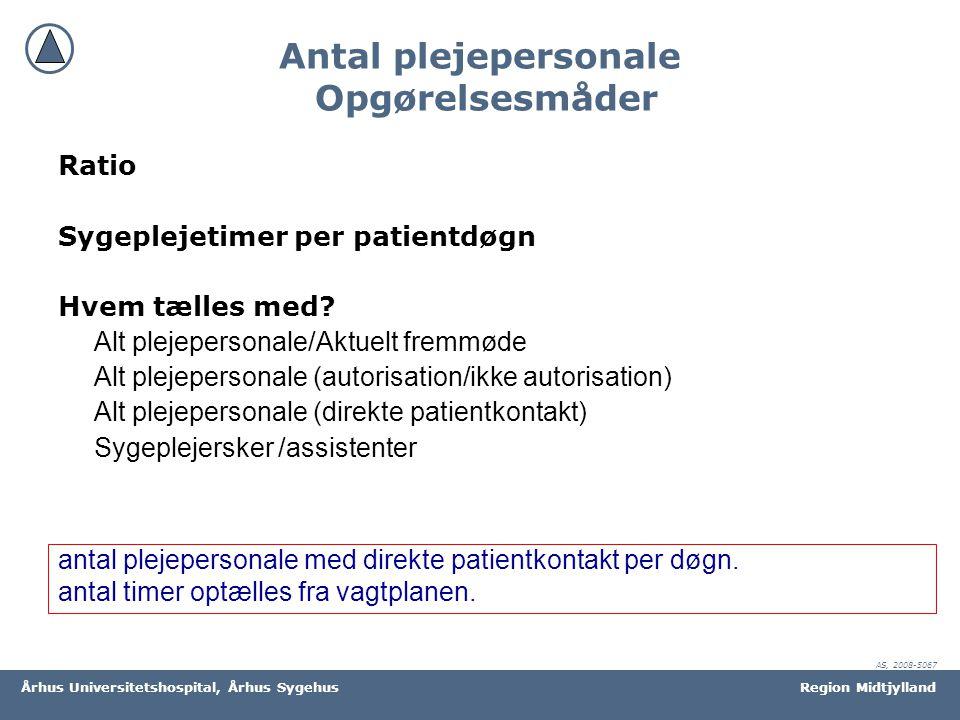 Antal plejepersonale Opgørelsesmåder
