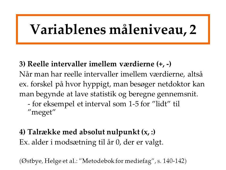 Variablenes måleniveau, 2