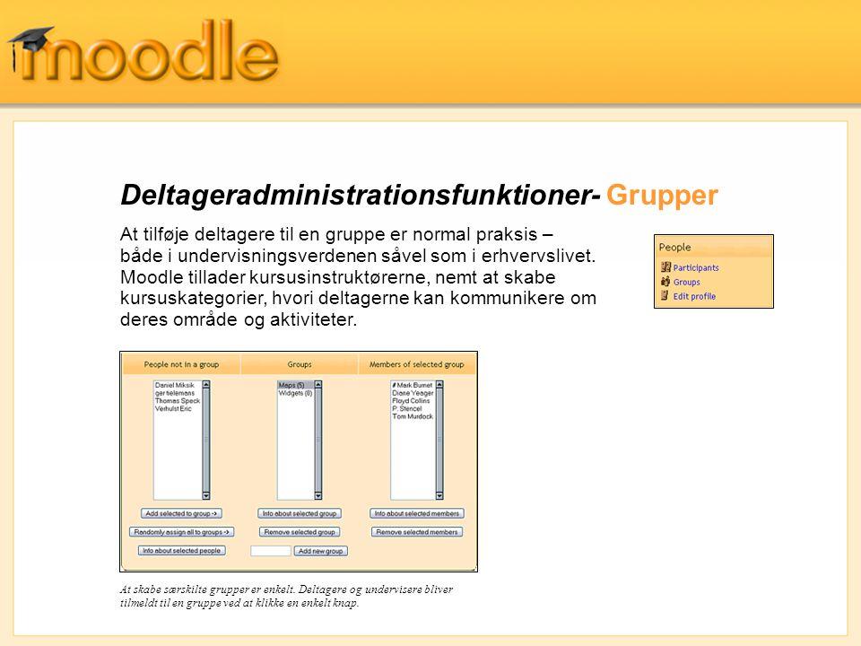 Deltageradministrationsfunktioner- Grupper