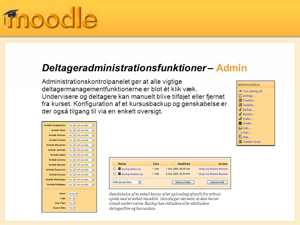 Deltageradministrationsfunktioner – Admin
