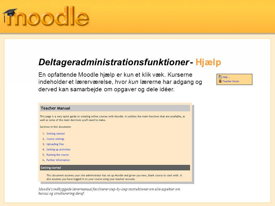 Deltageradministrationsfunktioner - Hjælp