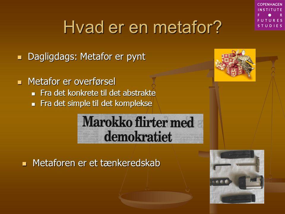 Hvad er en metafor Dagligdags: Metafor er pynt Metafor er overførsel