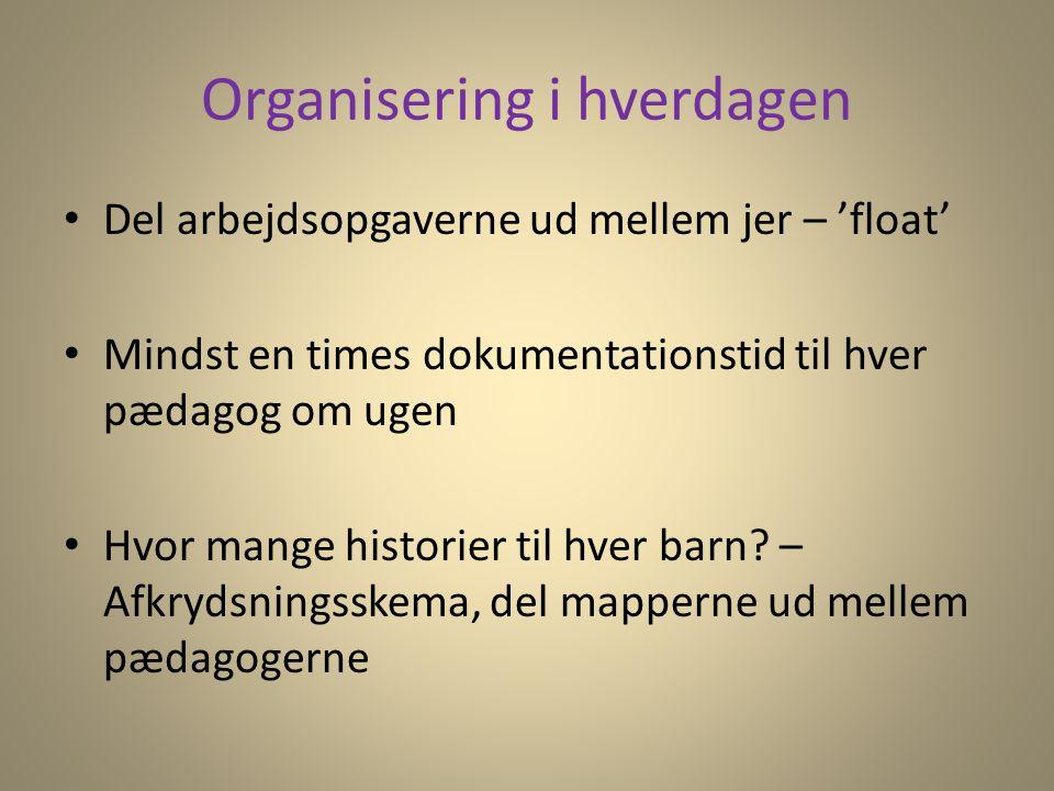 Organisering i hverdagen