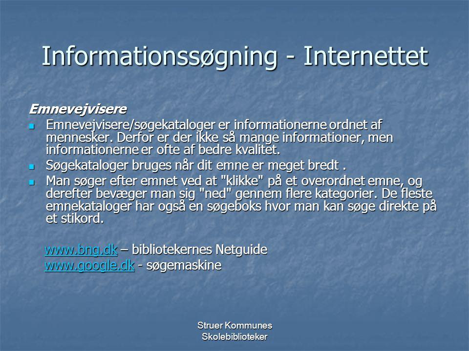 Informationssøgning - Internettet