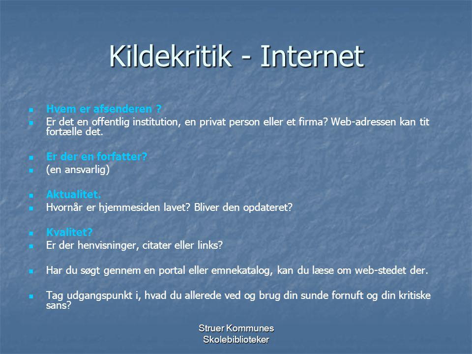Kildekritik - Internet