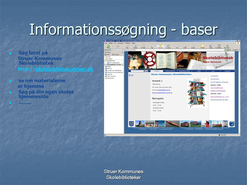 Informationssøgning - baser