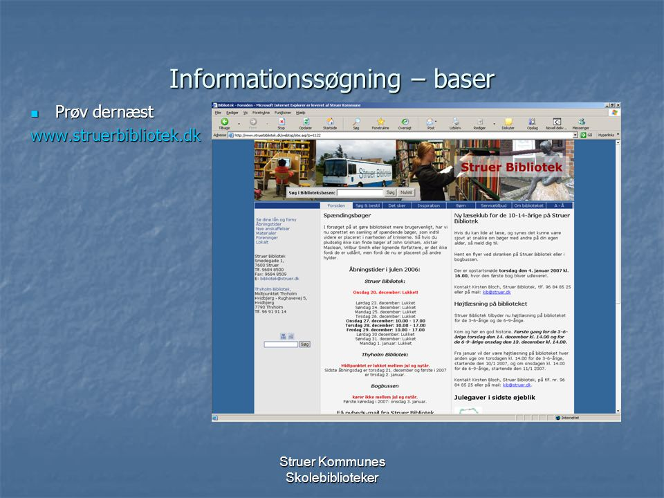 Informationssøgning – baser