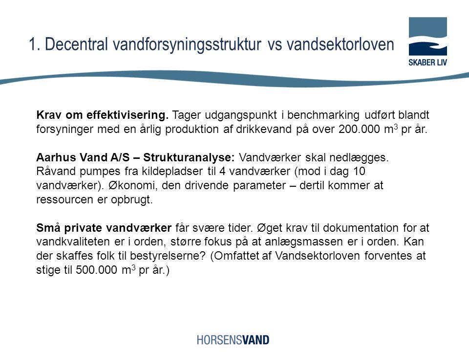 1. Decentral vandforsyningsstruktur vs vandsektorloven