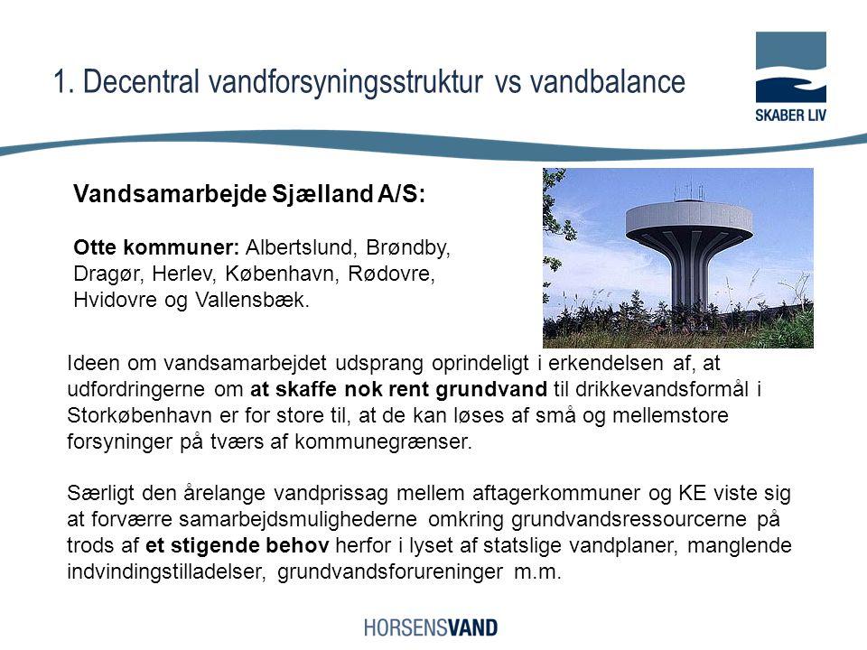 1. Decentral vandforsyningsstruktur vs vandbalance