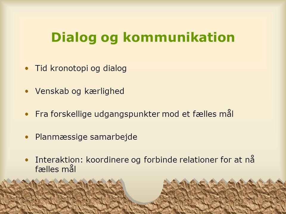 Dialog og kommunikation
