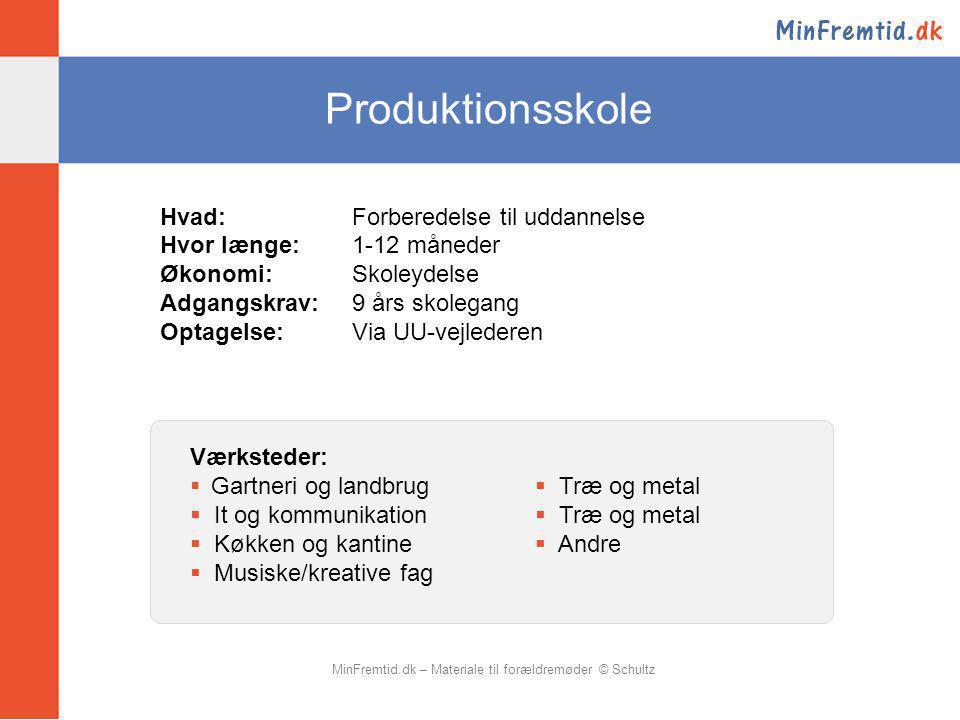 MinFremtid.dk – Materiale til forældremøder © Schultz
