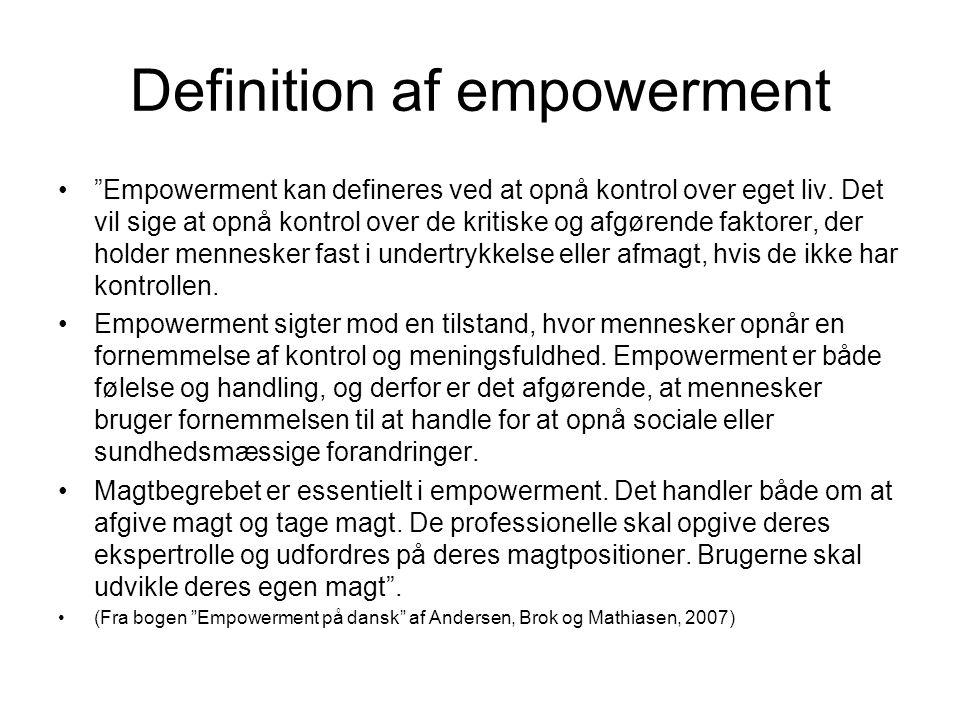 Definition af empowerment
