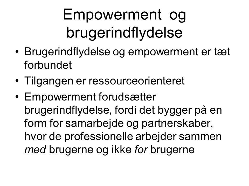 Empowerment og brugerindflydelse