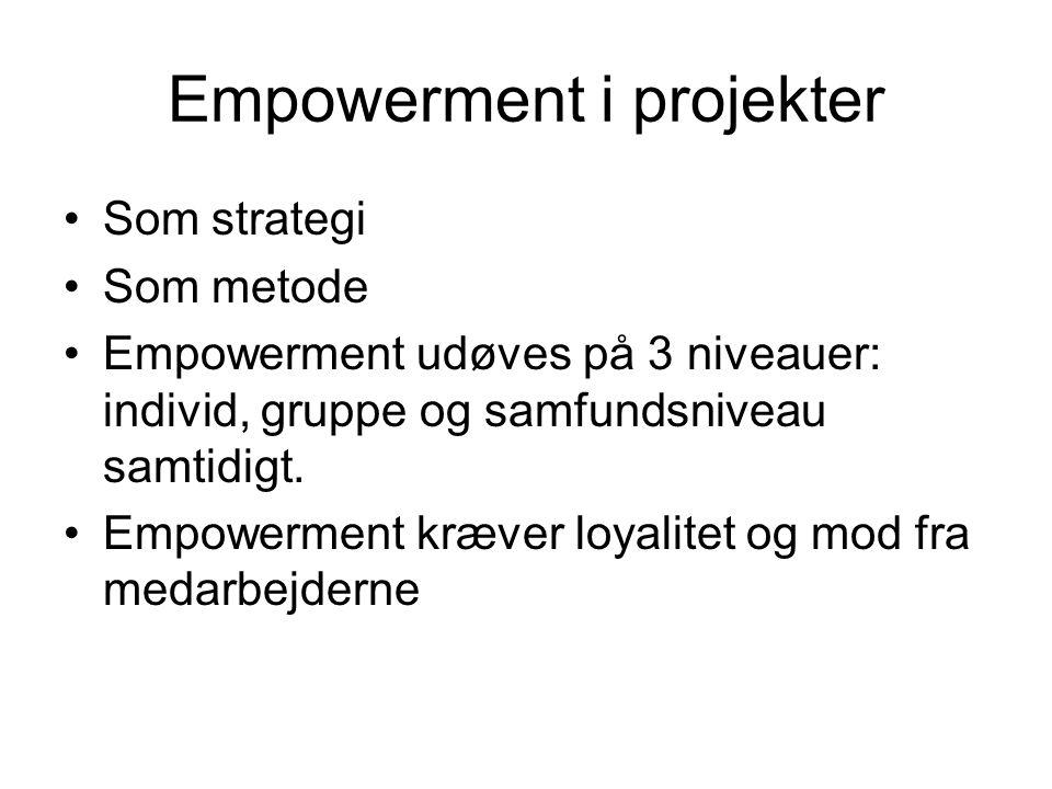 Empowerment i projekter
