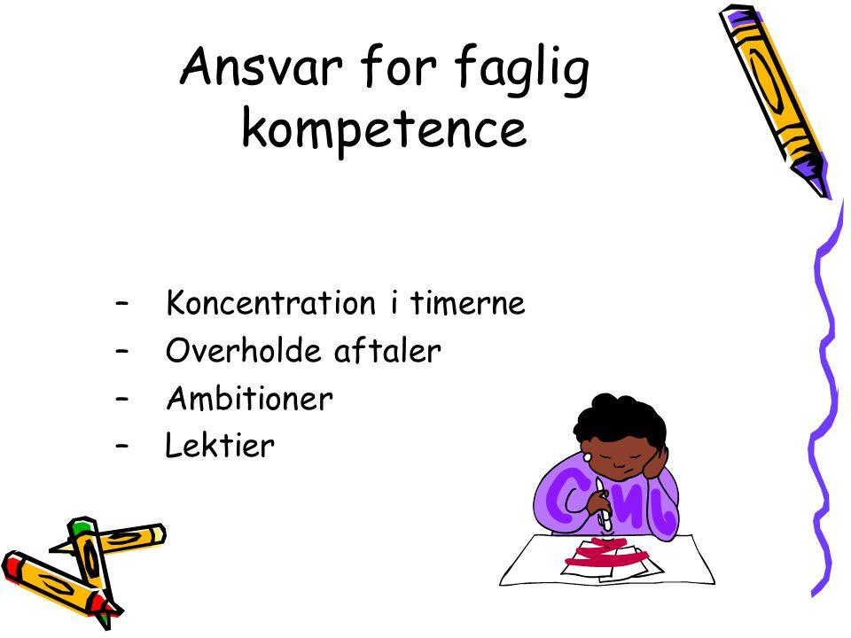 Ansvar for faglig kompetence