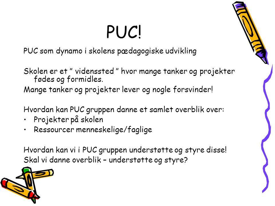 PUC! PUC som dynamo i skolens pædagogiske udvikling