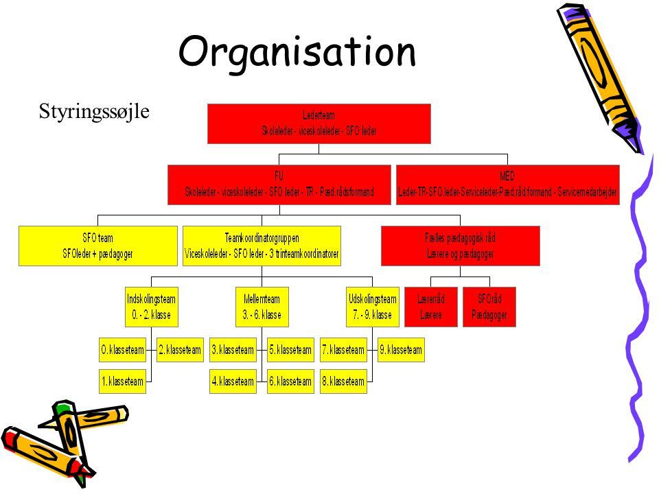 Organisation Styringssøjle