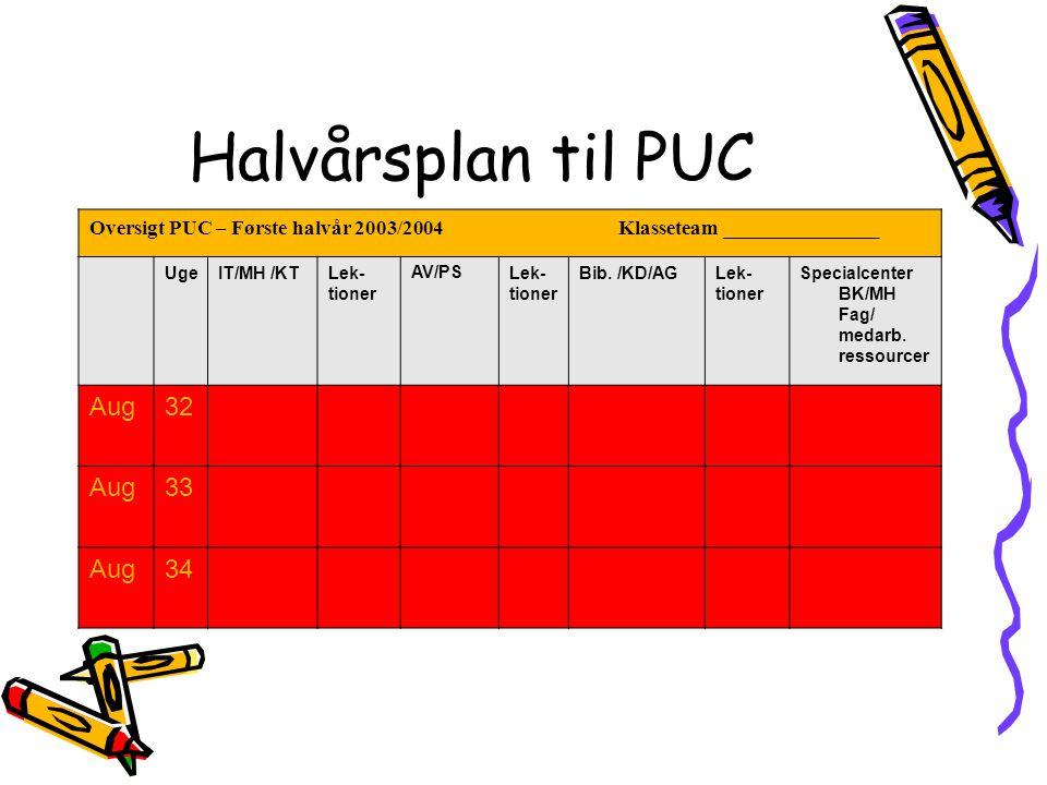 Halvårsplan til PUC Aug 32 33 34