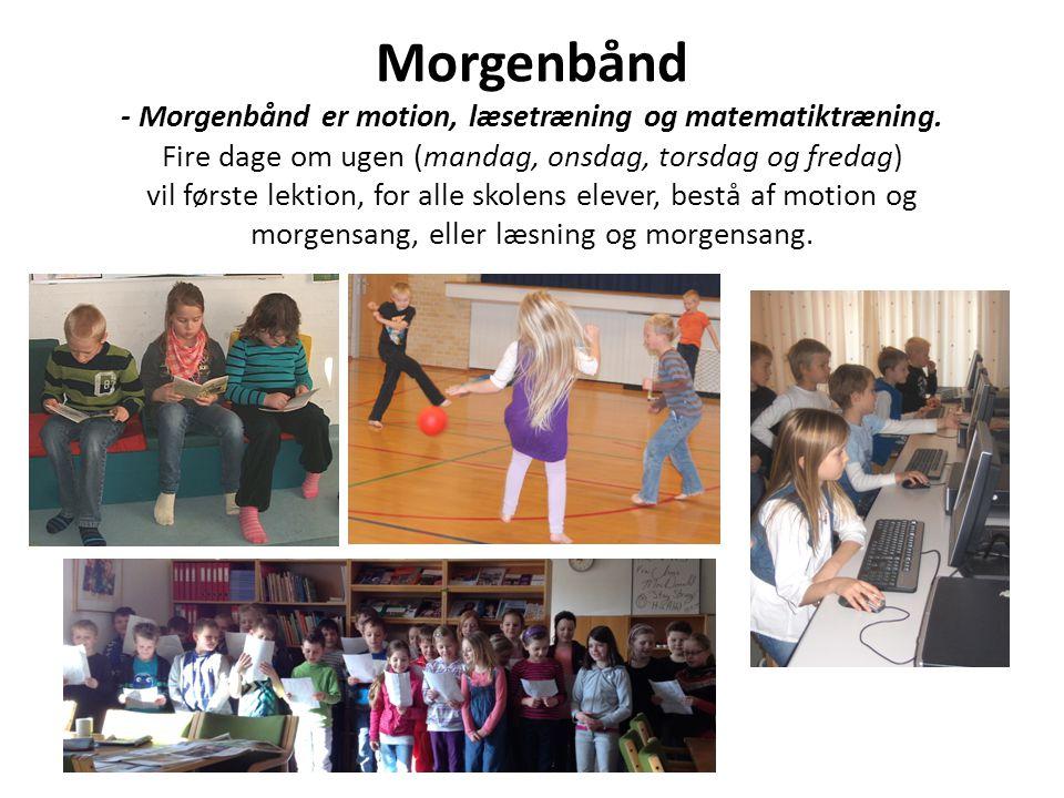 Morgenbånd - Morgenbånd er motion, læsetræning og matematiktræning