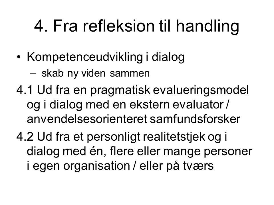 4. Fra refleksion til handling