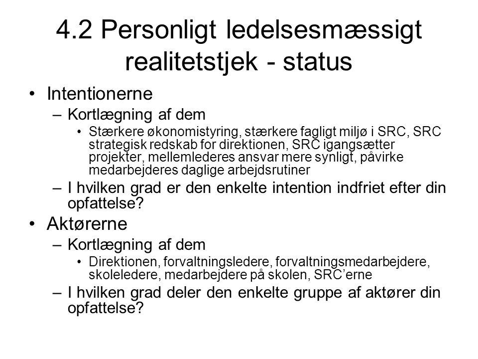 4.2 Personligt ledelsesmæssigt realitetstjek - status