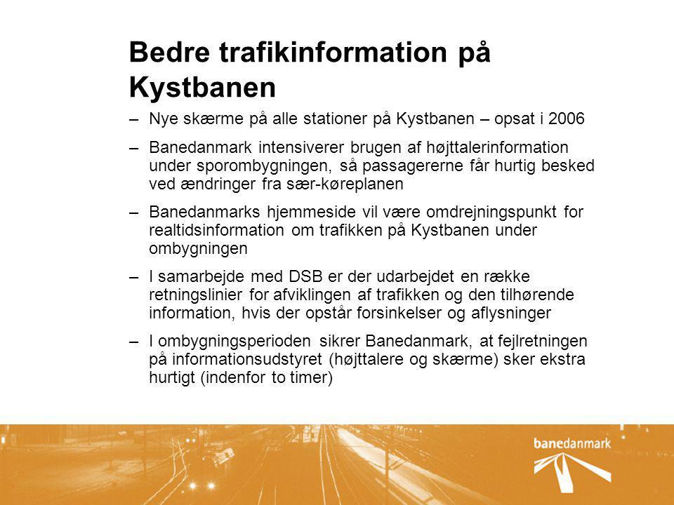 Bedre trafikinformation på Kystbanen