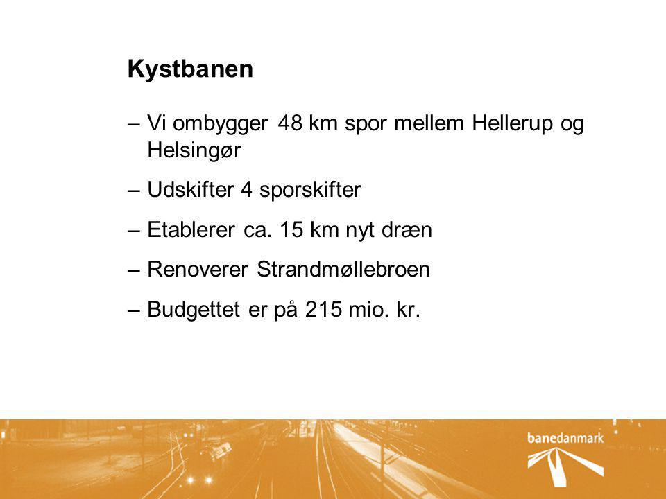 Kystbanen Vi ombygger 48 km spor mellem Hellerup og Helsingør