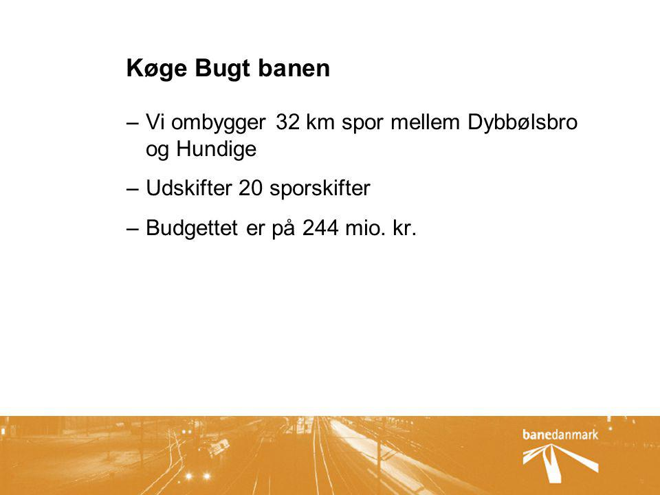 Køge Bugt banen Vi ombygger 32 km spor mellem Dybbølsbro og Hundige