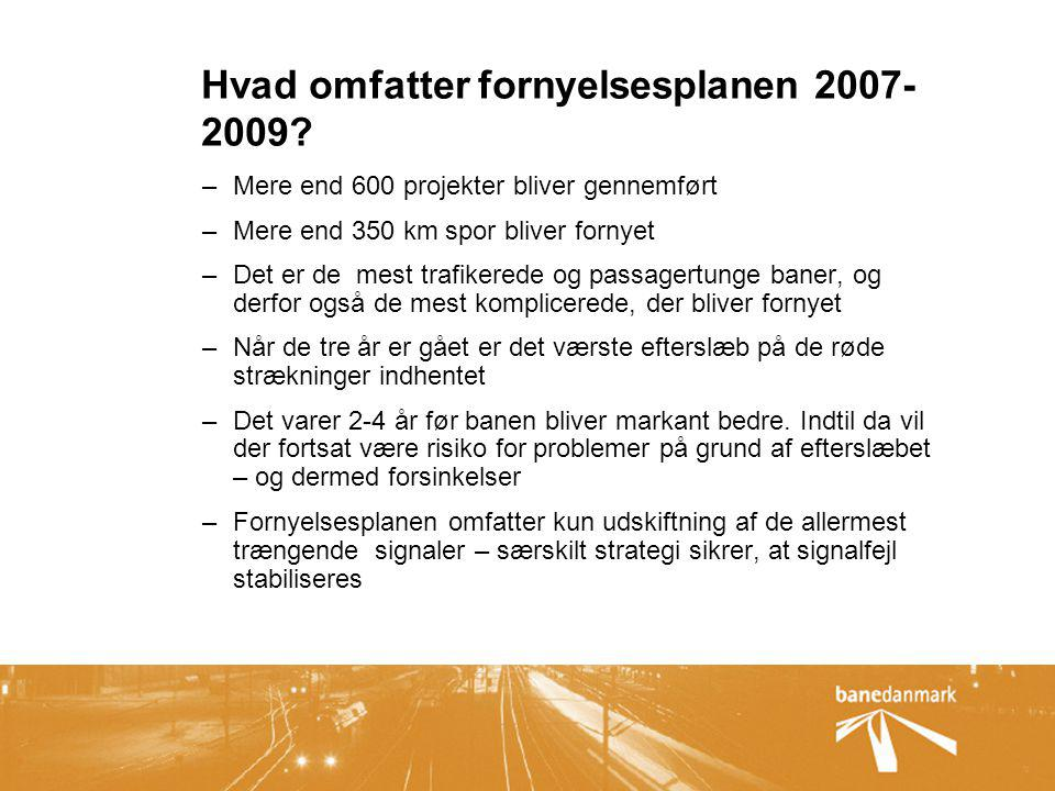 Hvad omfatter fornyelsesplanen 2007-2009