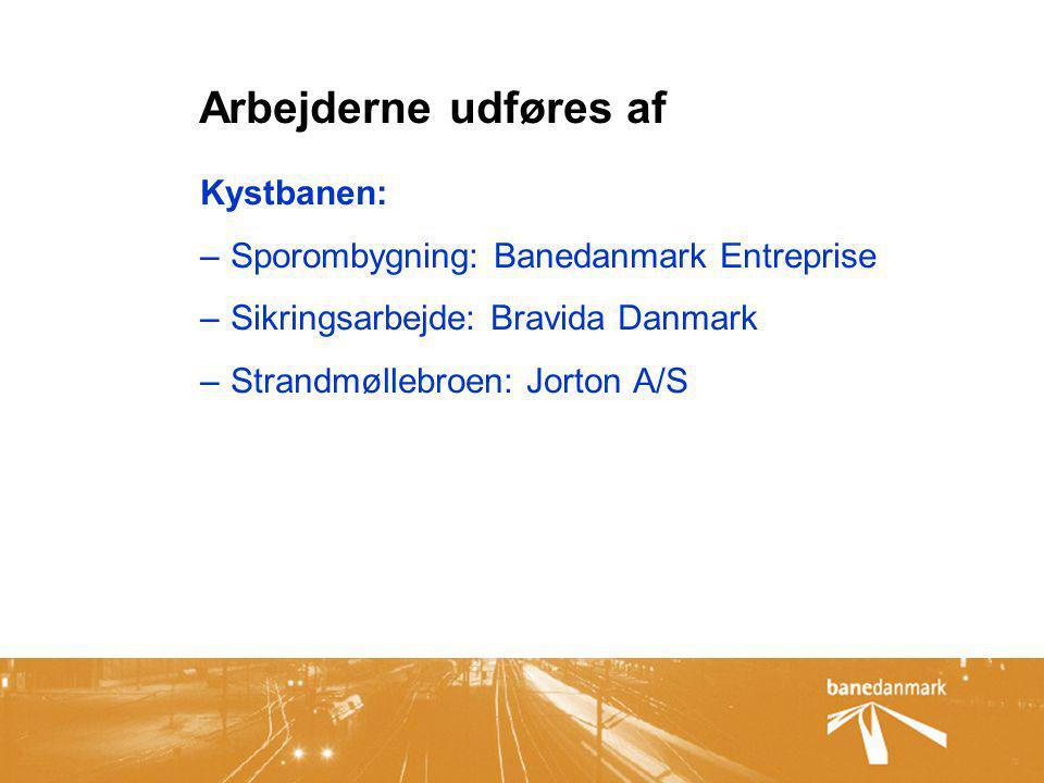 Arbejderne udføres af Kystbanen: Sporombygning: Banedanmark Entreprise