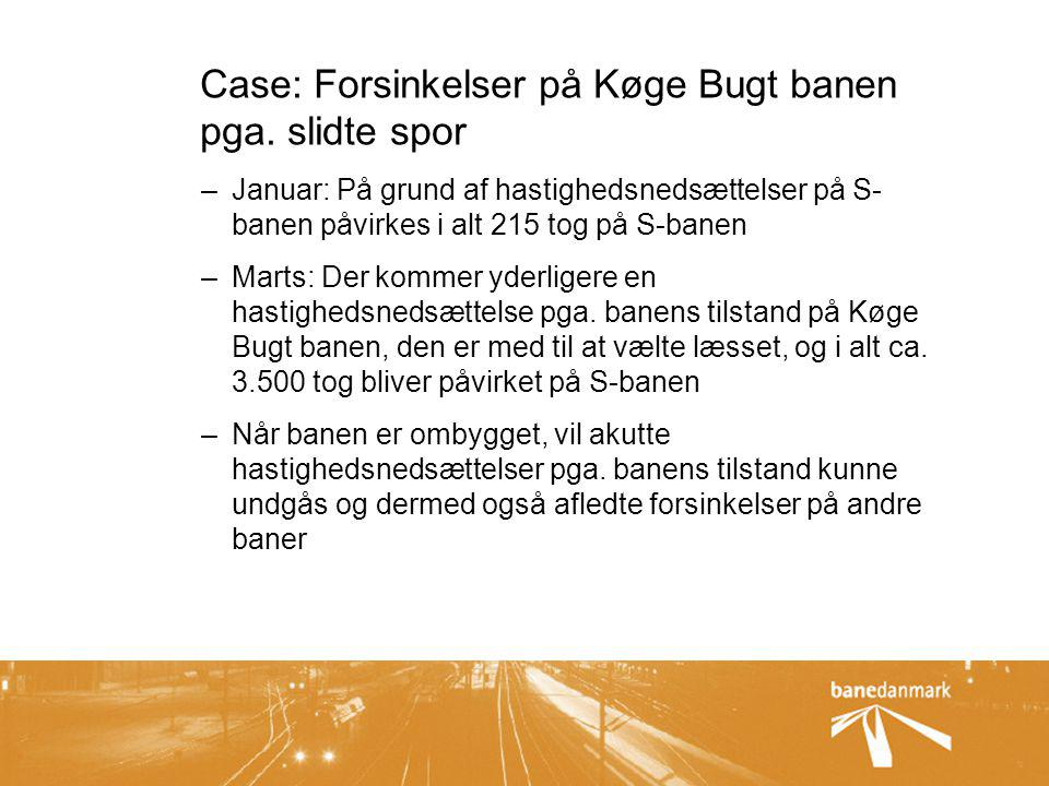 Case: Forsinkelser på Køge Bugt banen pga. slidte spor