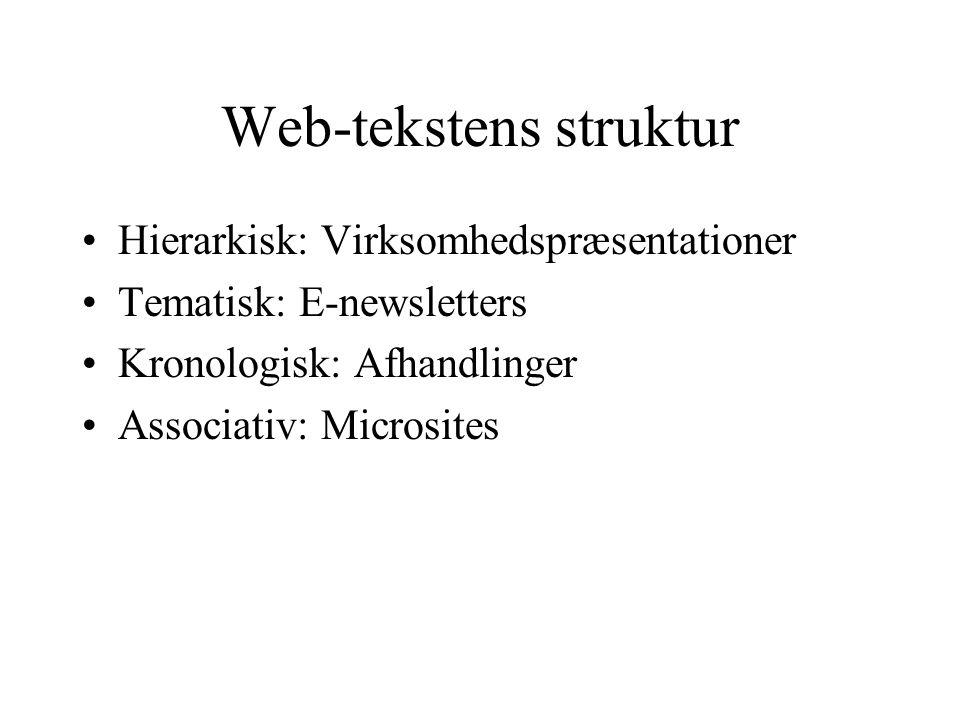 Web-tekstens struktur
