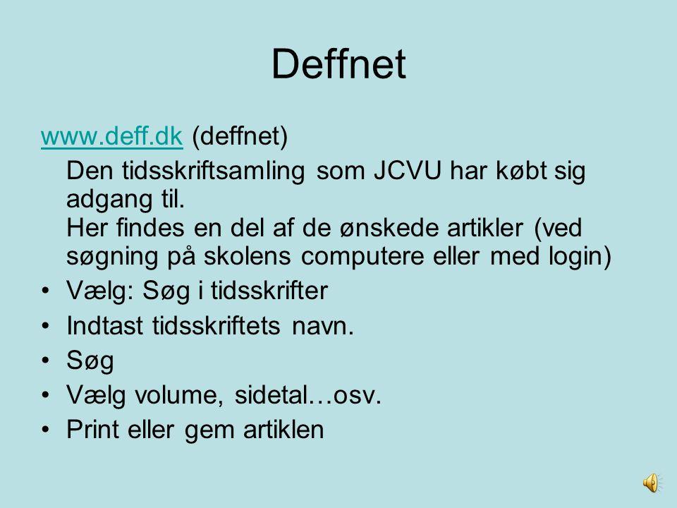 Deffnet www.deff.dk (deffnet)
