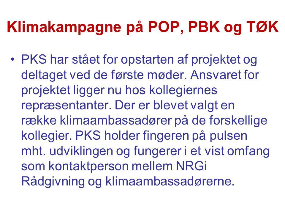 Klimakampagne på POP, PBK og TØK