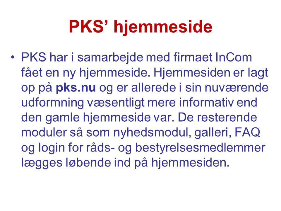PKS' hjemmeside