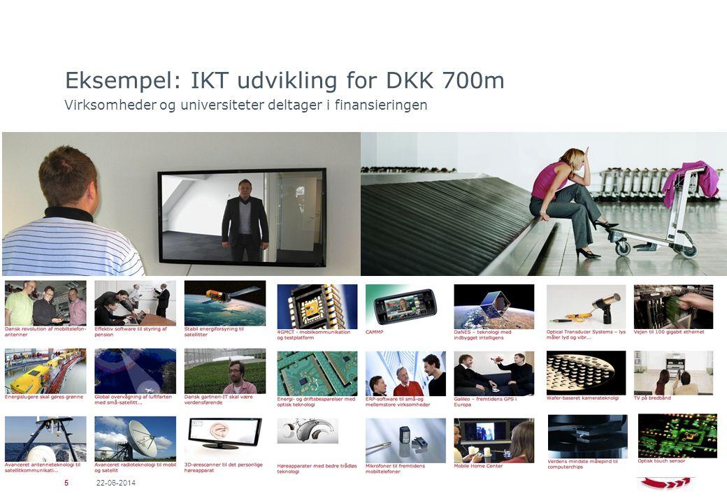 Eksempel: IKT udvikling for DKK 700m Virksomheder og universiteter deltager i finansieringen