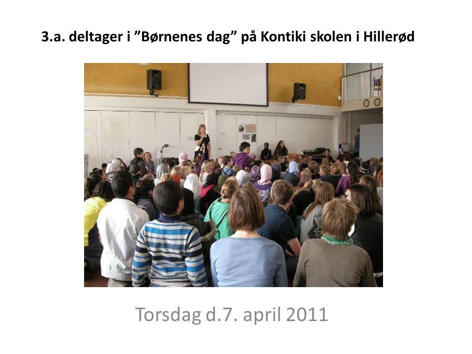 3.a. deltager i Børnenes dag på Kontiki skolen i Hillerød