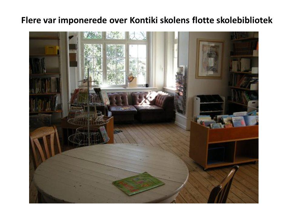Flere var imponerede over Kontiki skolens flotte skolebibliotek