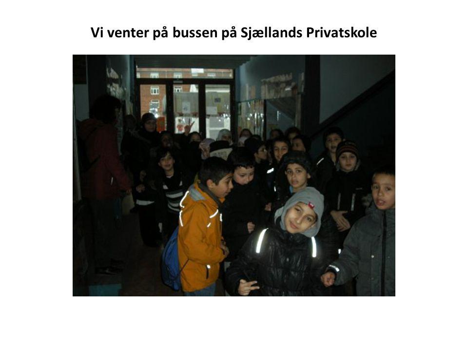 Vi venter på bussen på Sjællands Privatskole